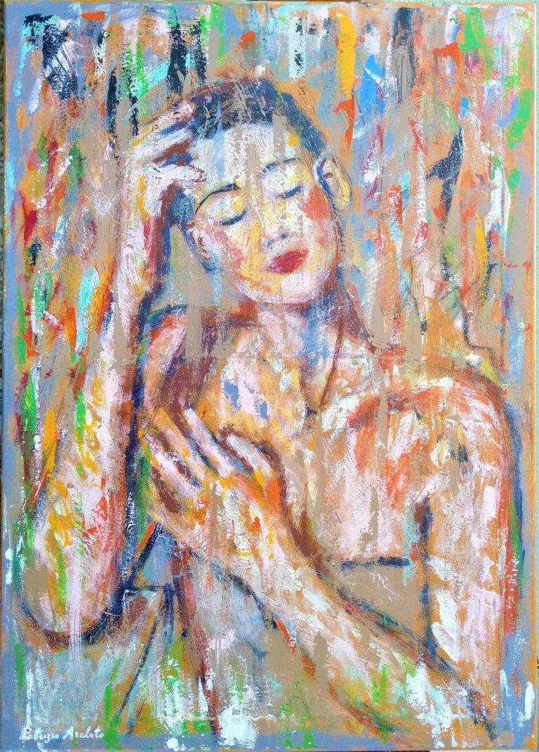 La ragazza, i pensieri e i colori