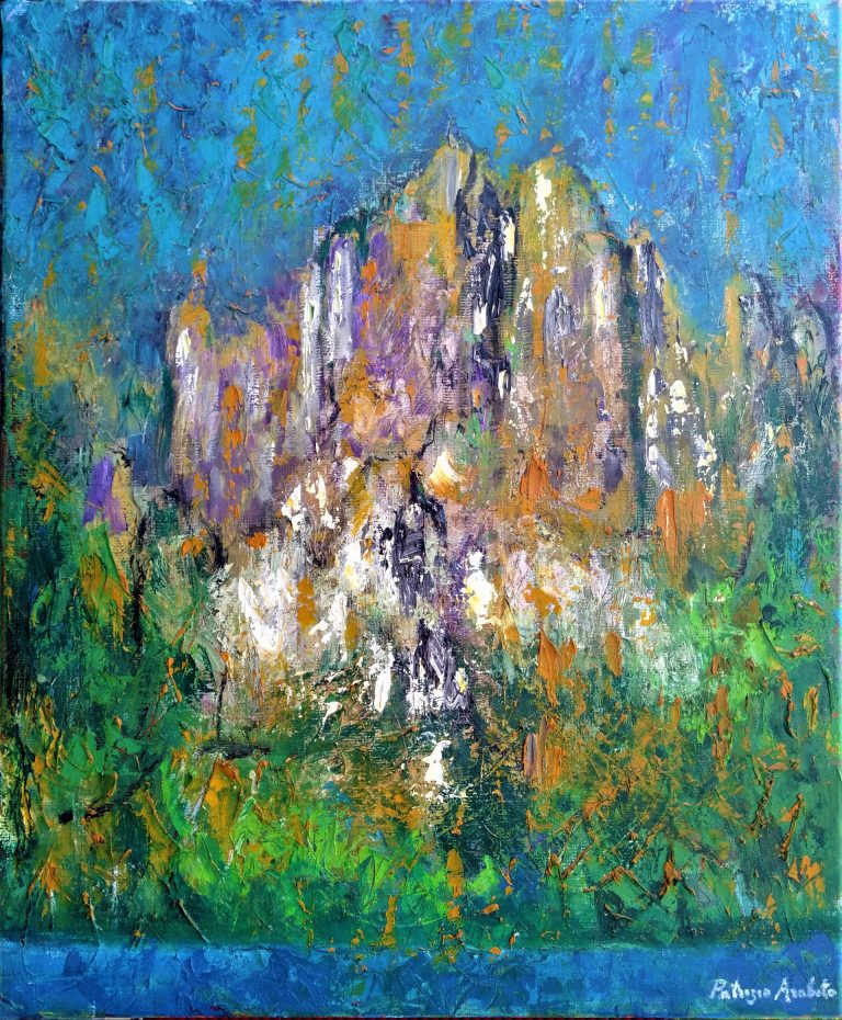 Paesaggio con montagna
