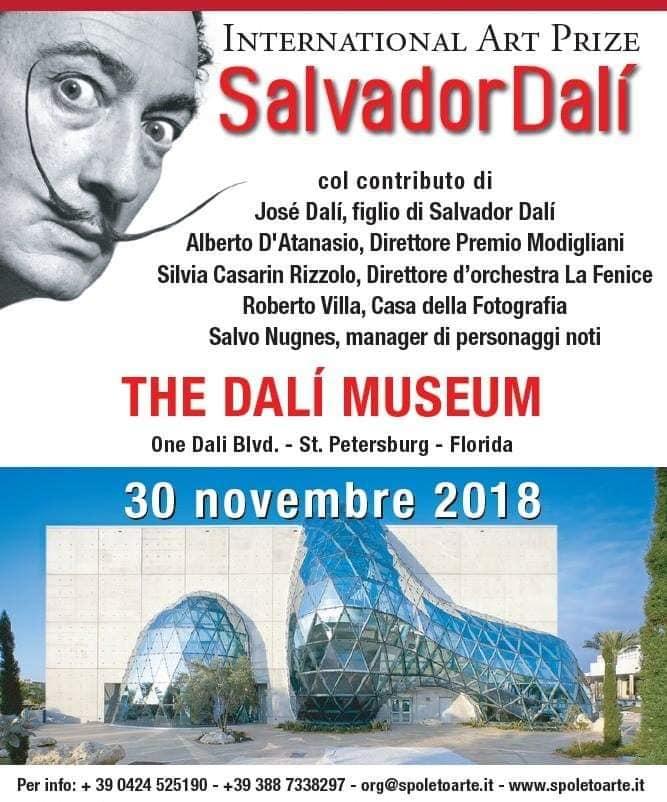 Patrizio Arabito - Premio Dali 2018 all'omonimo Museo a Saint Petersburg-Florida